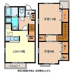 M casa[1階]の間取り