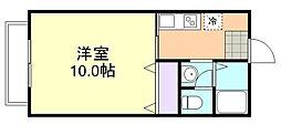 エタニティー安江B棟[203号室]の間取り