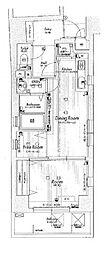 ラナップスクエア四天王寺[301号室]の間取り