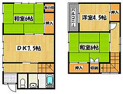 [一戸建] 千葉県市川市平田4丁目 の賃貸【/】の間取り