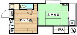 東京都新宿区三栄町の賃貸アパートの間取り
