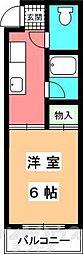 山口ビル[201号室]の間取り