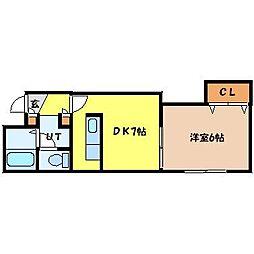 北海道札幌市東区北二十条東13丁目の賃貸マンションの間取り