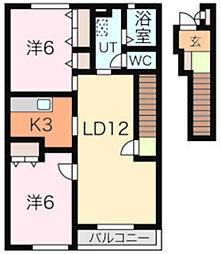 PrendreIII[2階]の間取り