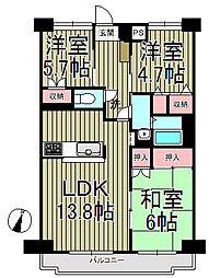 ブールヴァル鎌倉手広[105号室]の間取り