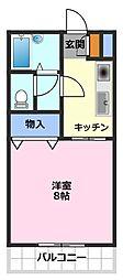 メゾン小塚[1階]の間取り