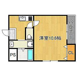 フジパレス長吉川辺3番館[3階]の間取り