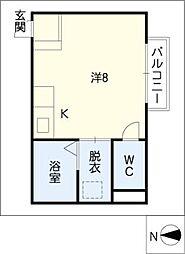 武藤荘[2階]の間取り