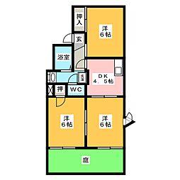 シャルムアマービレ[1階]の間取り