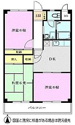 メゾンドール朝霞台[2階]の間取り