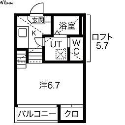 ハーモニーテラス露橋(ハーモニーテラスツユハシ)[1階]の間取り