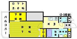 リバーサイドM3[2階]の間取り