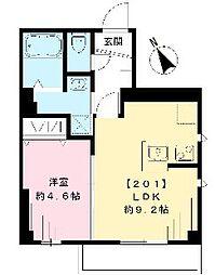東京メトロ有楽町線 千川駅 徒歩1分の賃貸マンション 3階1LDKの間取り