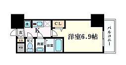 プレサンス阿波座駅前 7階1Kの間取り