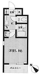 東京都新宿区市谷砂土原町2丁目の賃貸マンションの間取り