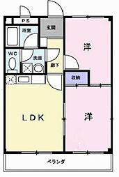 兵庫県小野市本町の賃貸アパートの間取り