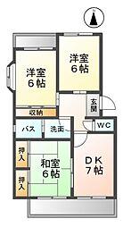 愛知県北名古屋市高田寺砂場の賃貸マンションの間取り