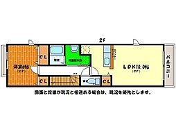 メゾンLoireIII[2階]の間取り