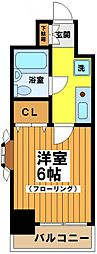東京都渋谷区笹塚1丁目の賃貸マンションの間取り