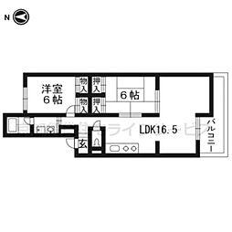 シャトレ月輪[1階]の間取り