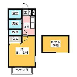 グラシアス B棟[1階]の間取り