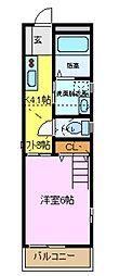 OKメゾン六会[2階]の間取り