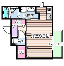 ラシーネ・梅田WEST[3階]の間取り