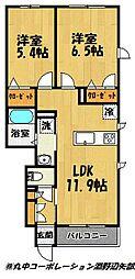 クオレール勇[105号室]の間取り