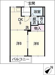 タウニーY3,Y5[1階]の間取り