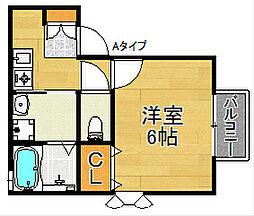 セジュールTanigami[1階]の間取り