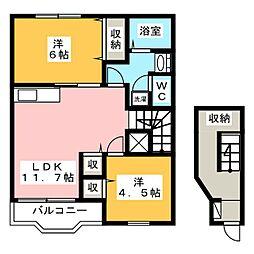 マロニエ[2階]の間取り