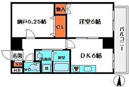 HERITAGE高井田[3階]の間取り