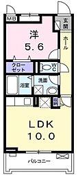 サニーレジデンス稲田本町[205号室号室]の間取り