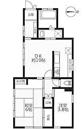 ハウスオリーブ[1階]の間取り