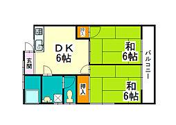 谷川荘[1階]の間取り