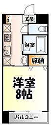 仙台市営南北線 広瀬通駅 徒歩8分の賃貸マンション 3階1Kの間取り