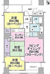 ヴィルヌーブタワー横浜・関内[7階]の間取り