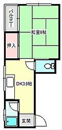 ライフイン住之江C棟[3階]の間取り