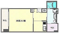 エイペックス東心斎橋II[10階]の間取り