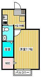 アーバンフォレスト新松戸[1階]の間取り