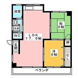 小島ビル[1階]の間取り