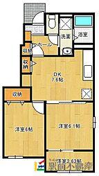 Rest HouseIII B[101号室]の間取り