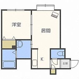 アリオンN28[3階]の間取り