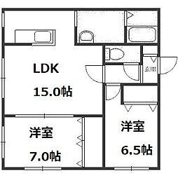 MTガーデン福井[101号室]の間取り