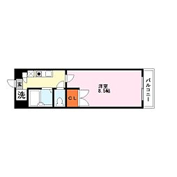 オール電化カーサソラッツオ弐番館[6階]の間取り