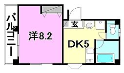 カーサ朝美[301 号室号室]の間取り