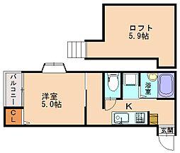 プライムコート大橋[2階]の間取り