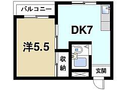 米田マンション[4階]の間取り