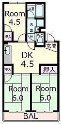 メゾン・ド・後三条[1階]の間取り