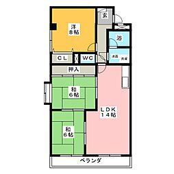 フローラル花水木[4階]の間取り